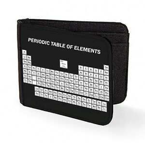 periodic table of elements wallet credit card print science  chemical elements