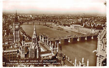 RPPC,London,U.K.Houses of Parliament,County Hall & Westminster Bridge,Used,1932