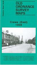 OLD ORDNANCE SURVEY MAP CREWE EAST RAILWAY STATION CREWE GREEN 1908