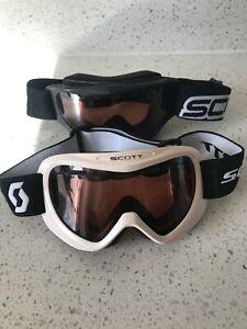 Scott Kids Child Youth Snowboard Ski Goggles Lot of 2