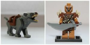 Lord Of The Rings The Hobbit Wolf Wolves Warg & Gundabad Orc Mini Figures Model