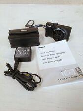 Nikon COOLPIX S8200 16.1MP Black Digital Camera, case, 2GB SD, extras EXCELLENT