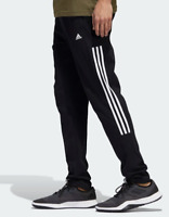 Adidas Training Pants Mens XL Authentic Black Classic 3 Stripe BTS Track 30 Inch