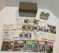 Vintage Viewmaster in Storage Case View-Master Plus 64 Slides Disneyland Knotts