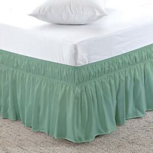 800 TC Wrinkle and Fade Resistance Wrap Around Ruffle Bed Skirt 21 Inch Pocket