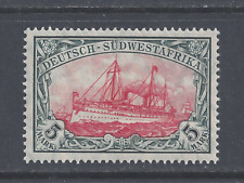 GERMAN SOUTH-WEST AFRICA 1906 5m. CARMINE AND BLACK 26x17 HOLES MINT HINGED SG32