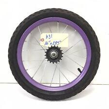 "Complete 16"" Rear Purple Bicycle Wheel w/ Coaster Brake & 1.95"" Tire - Bike #k31"