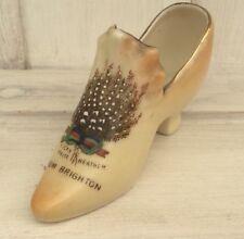 Gemma Crested Ware Czechoslvakia Brighton Shoe