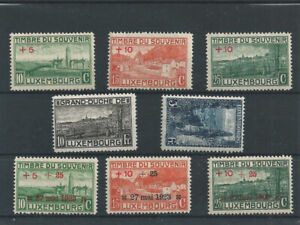 Postage Stamps Luxembourg 1921 137/139 & 141/145  - Timbres de Souvenir MNH 2 MH
