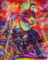 Blend Cota Elvis The King of Rock and Roll 30 x 24 S/N LE Gallery Wrap Canvas