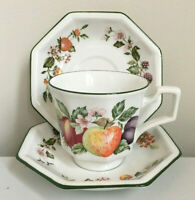 Set/3 Johnson Brothers Fresh Fruit Cup & 2 Saucer Set Staffordshire England/EXC