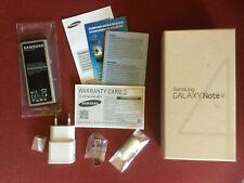 ORIGINAL SAMSUNG GALAXY Note 4 32GB SM-N910C empty BOX & BATTERIE & Accessoires