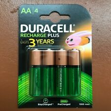 4 x Duracell AA 1300 mAh Rechargeable PLUS Batteries NiMH HR6 NEW Duralock