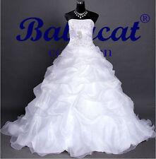 Brautkleid Hochzeitskleid Robe Kleid für Braut Hochzeit weiß 40 B1302