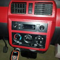 1PCS 3D Red Carbon Fiber PVC Wrap Roll Film Sticker Car Decal Decor Sheet