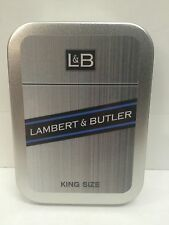 Lambert & Butler Advertising Brand Cigarette Tobacco Storage 2oz Hinged Tin