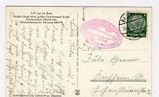 GERMANY: 1938 postcard of LZ 130 in Bau with Zeppelin cachet (C23656)