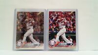 Uncirculated Rhys Hoskins ROOKIES 2018 Topps Chrome + Identical Topps
