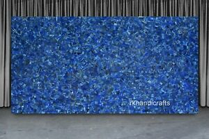 24 x 48 Inches Marble Dining Table Top Lapis Lazuli Stone Living Room Table Top
