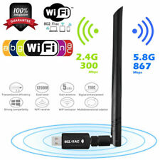 Mini 1200Mbps USB3.0 Wifi Adapter Dongle Dual Band 2.4G/5GHz w/Antenna 802.11AC