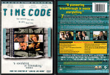 DVD Mike Figgis TIME CODE timecode Salma Hyek cult WS+FS UNRATED+R SE R1 OOP