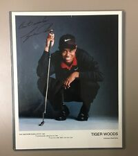 Tiger Woods authentic signed autographed 8x10 photograph COA