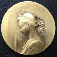52 mm BRONZE ART - NOUVEAU MEDAL / MUSIC AWARD / M88
