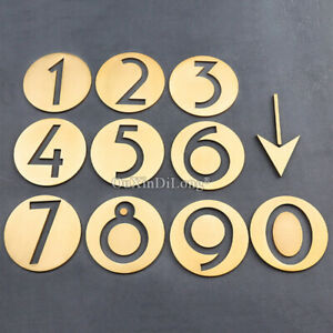 1PCS Pure Brass Round House Number Signs Digit 0~9 Home Hotel House Decorations