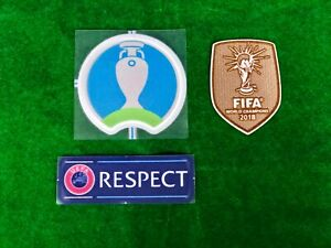 OFFICIAL PLAYER ISSUE France Away UEFA EURO 2020 AUTHENTIC Patches