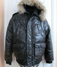 Monarchy Black Label Coat Hooded Puffer Padded Jacket Military Style sz M-L