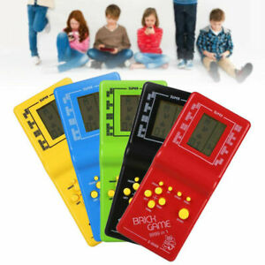 LCD Electronic Tetris Game Console Hand Held Game Toys Brick Brick Squash Game