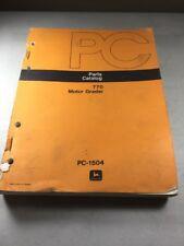 John Deere 770 Motor Grader Parts Catalog