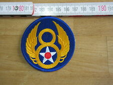 USAF Airforce US Army Ärmelabzeichen Patch Mighty Eight 8th Div Pilot Wings WWII