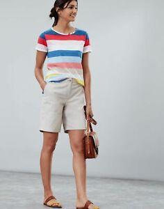 Joules Womens Cruise Long Chino Shorts - Ivory