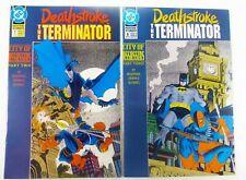 DC DEATHSTROKE THE TERMINATOR (1992) #7-8 City of Assassins Lot BATMAN Lot VF+