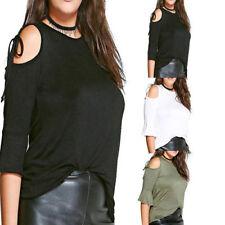 Camisas y tops de mujer de manga corta sin marca color principal negro