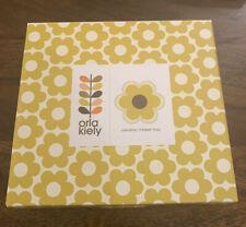 Orla Kiely Ceramic Trinket Tray /6 Petal Flower -Ochre Yellow ( New)