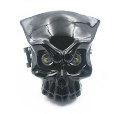 Motorcycle LED Skull Head Light Headlight Lamp w/Mount Bracket For Harley Suzuki