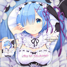 Re:Zero Rem Japanese Anime Girl 3D Mouse Pad Mat Wrist Rest new