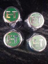 ET Mag Wheel Center Caps NOS ?Round Hot Rod Rat Rod Gasser Slotted Mags Rare