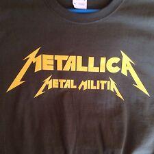 METALLICA Metal Militia Shirt. Rare. Kill 'Em All Fan Club Member. 1984 New