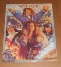Willow Movie 2-Sided Promo Poster 1998 Original 22x17 Kraft Val Kilmer RARE
