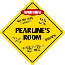 """*Aluminum* Pearl's Room Kids Room Door 12""""x12""""  Metal Novelty Sign"""