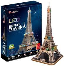 Eiffel Tower 82pcs LED Architecture 3d Model DIY Puzzle Hobby Building Kit