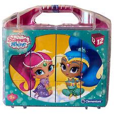 Clementoni Shimmer Shine Würfelpuzzle Cube-Puzzle 12 Teile, 6 Bilder NEU & OVP