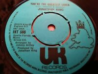 """JONATHAN KING * YOU'RE THE GREATEST LOVER * 7"""" SINGLE EXCELLENT 1979"""