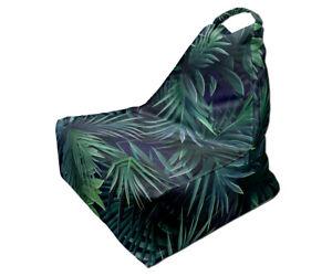 Bean Bag Chair, Tropical Leaves Print, Unique Design, Full Print, Made in EU