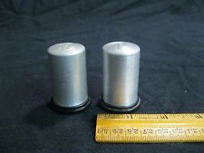 Silver Metal Column Pillar Plastic Base Salt and Pepper Shakers        17