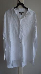 MEN'S White LINEN Long Sleeve Shirt .... TOMMY BAHAMA .... Size XL   #O1021