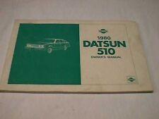 1980 DATSUN 510 ORIGINAL VINTAGE OWNER'S MANUAL